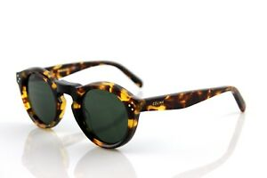 18dc9ad905 Image is loading RARE-Genuine-CELINE-BEVEL-ROUND-Blonde-Tortoise-Sunglasses-