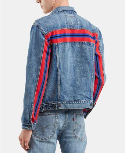 Levi/'s Men/'s Denim Trucker Jean Jacket Size XXL NWT Blue Red Bolt Wash 2XL LS