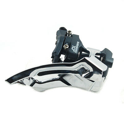 Sram X7 Dual Pull 31.8 Low Clamp 3x9-Speed MTB Front Derailleur Gray
