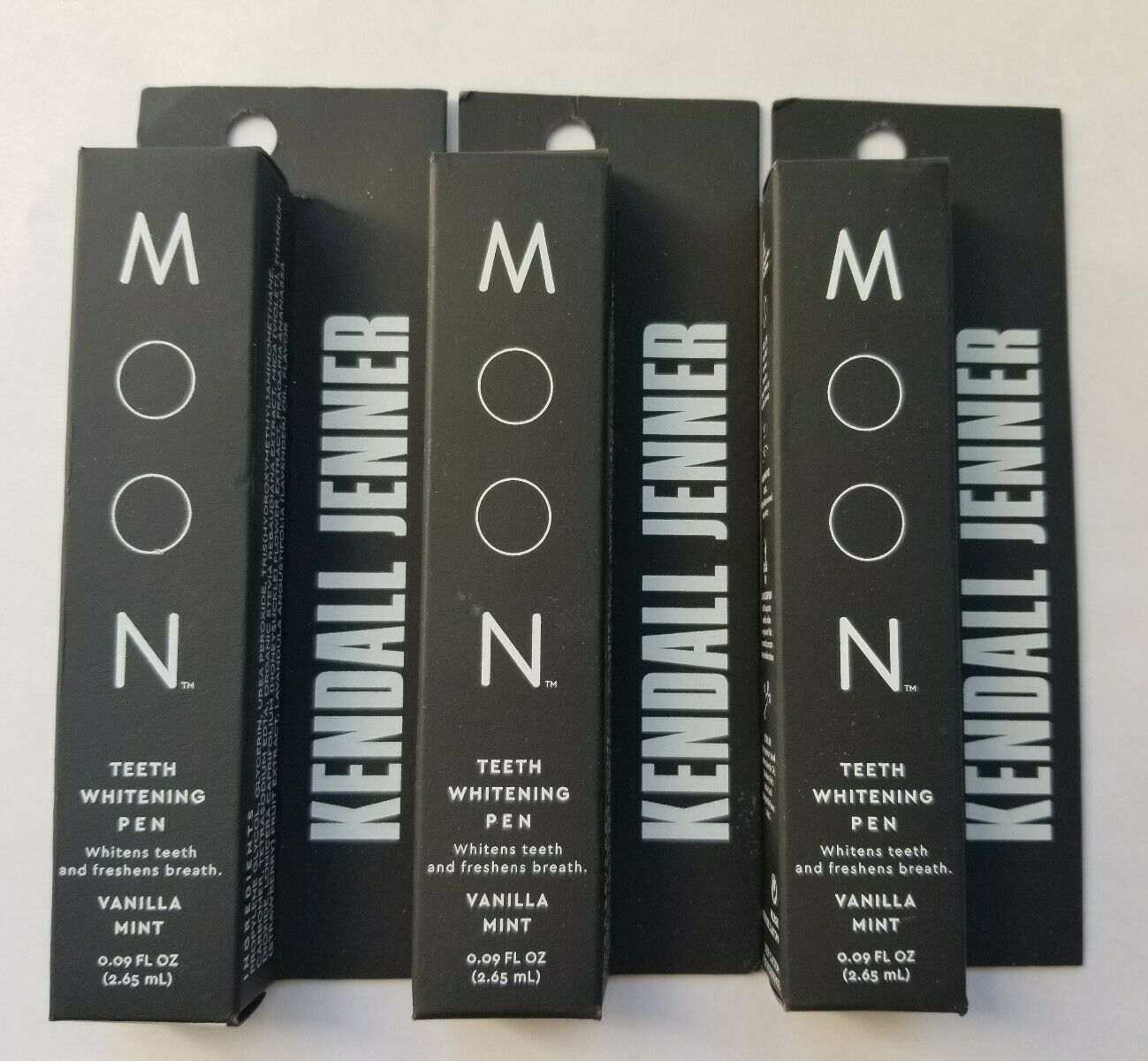 Lot Of 3 Kendall Jenner Moon Teeth Whitening Pen Vanilla Mint 09