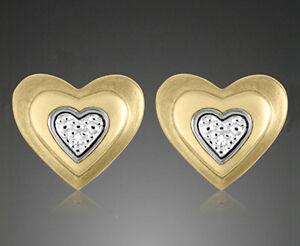 ECHT-GOLD-Ohrstecker-Ohrringe-mit-Diamant-Brillant-11-mm