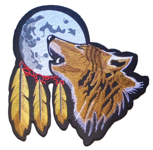 Backpatch écusson grand patche dorsal dos grande taille Loup Indien patch DIY