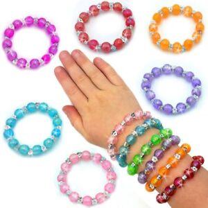 10stk Gemischte Kinder Kinder Holz Elastische Perlen Armbänder Bunter Schmuck