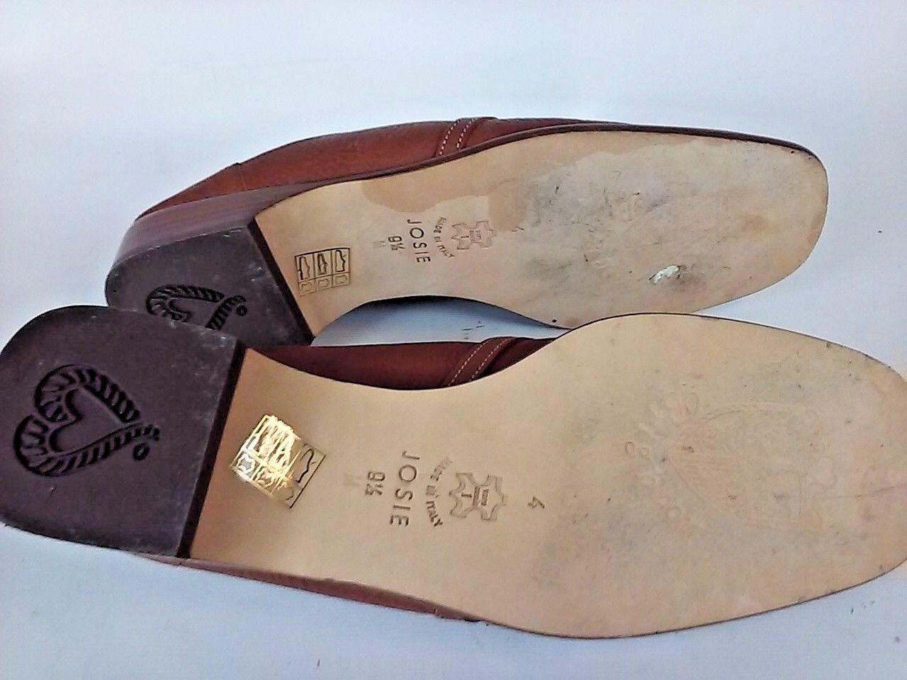 Brighton Damenschuhe Horsebit Braun Tan Leder Mule Loafer taly Schuhe 9.5 M Made taly Loafer 0c66f4
