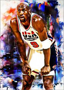 2021 Michael Jordan USA Basketball 9/25 Art ACEO Print Card By:Q