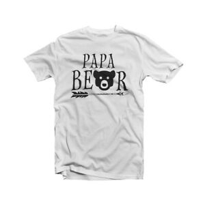 Image Is Loading Papa Bear T Shirt Baby Shower New Dad