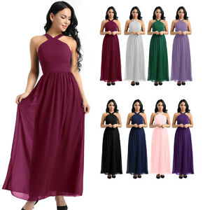 3b8d21f448c8c Details about Women Ladies Formal Wedding Bridesmaid Dress Evening Party  Prom Gown Cocktail