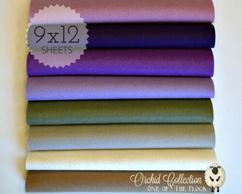 "WOW Beautiful ORCHID  Felt Collection Merino Wool Blend Felt 8-9/"" X 12/"" Sheets"