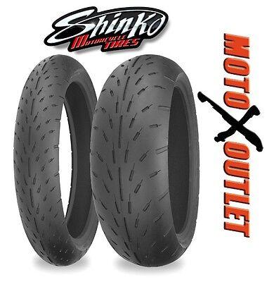 Shinko Advance 005 Tire Set 120//70zr17 Front /& 200//50zr17 Rear 200 50 17 120 70 17 2 Tire Set