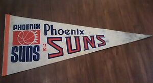 Vintage-NBA-pennant-Basketball-Phoenix-Suns-29-039-039-inches-long-as-is-man-cave