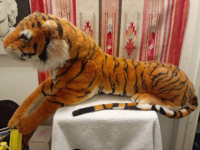 Melissa & Doug Tiger Giant Stuffed Animal (Wildlife, Soft Fabric, Beautiful Tig