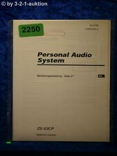 Sony Bedienungsanleitung ZS X3CP Personal Audio System (#2250)