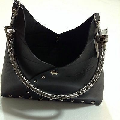 Recycled Repurposed Reclaimed Tire Tube Purse Hardware Renée Cute Hobo Bag NWT