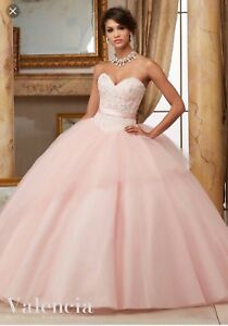 57a27a3223 Image is loading Ball-Gown-Dress-Quinceanera-dress-Color-Blush-Pink-
