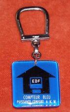 Porte-clés Keychain 钥匙圈 Bourbon E D F COMPTEUR Bleu Puissance CONFORT