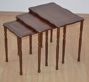 Satztische 3er Set Beistelltisch Tisch Couchtisch Massiv Farbe
