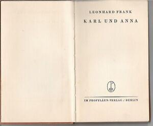 ERSTAUSGABE-Leonhard-Frank-KARL-UND-ANNA-1926