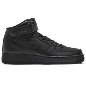 Nike Air Force 1 One mid 07 Men s High Shoes Black Sneaker Dunk ... e5bb9b2fec3