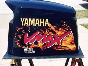 Yamaha v max 3 1 liter real flame decal kit ebay for Yamaha vmax outboard review