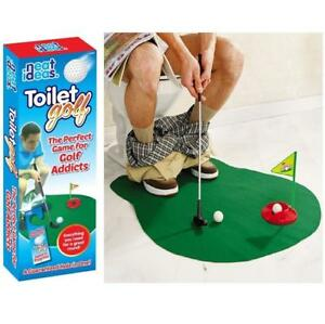 Image Is Loading Toilet Mini Golf Set Potty Putter Funny Bathroom