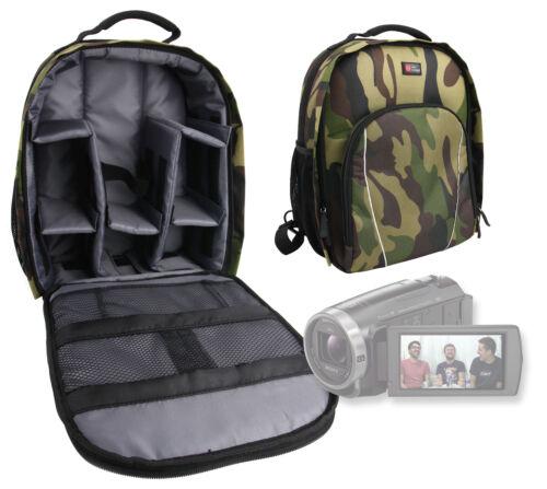 Mochila de camuflaje con Personalizable Interior Para Sony fdr-ax53 4k Handycam