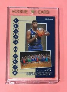 2019-Panini-Hoops-ZION-WILLIAMSON-Rookie-Draft-Class-of-2019-RC-7-Mint
