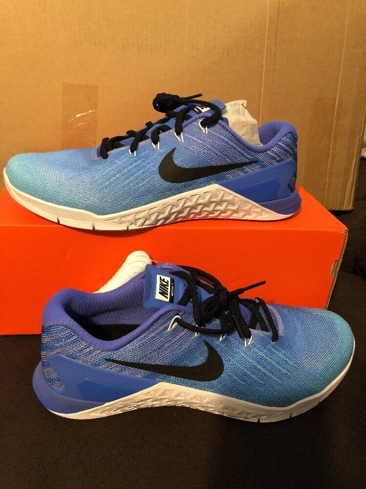 New Nike Womens Metcon 3 Fade Crossfit Trainer Shoes 902175-400 Still Blue sz 12