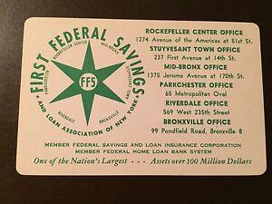 Details about 1958 First Federal Savings of New York, Rockefeller Center  vintage calendar card