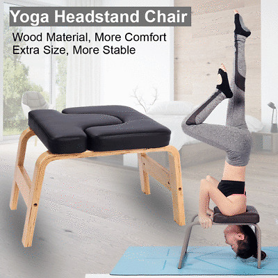 yoga headstand chair inversion bench headstand wood home