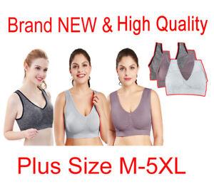 9cad2a0b60 Women Seamless Comfort Padded Yoga Sports Stretch Bra Crop Top Vest ...