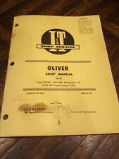 Iampt Oliver 99 950 990 995 770 880 Shop Manual O 13 Tractor Supplement Book