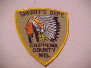 Details about CHIPPEWA COUNTY WISCONSIN POLICE PATCH SHOULDER SIZE UNUSED  TYPE 2