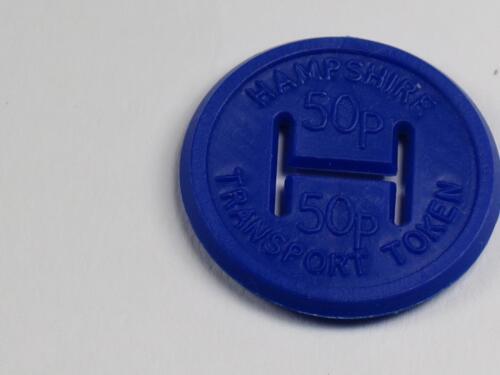HAMPSHIRE TRANSPORT TOKEN 50p Dark Blue Plastic