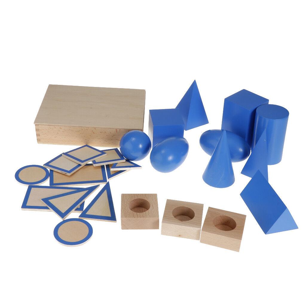 Wooden Montessori Mathematics Material - Geometric Solids