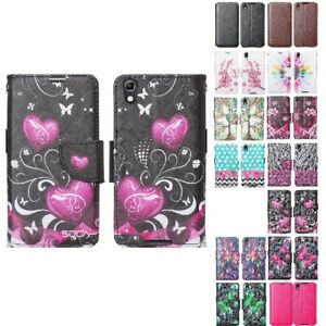 For-Alcatel-Idol-4-Nitro-49-Leather-Wallet-Credit-Card-Pouch-Case-Flip-Cover
