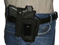 Usa Made Custom Belt Holster With Extra Mag Pouch Baby Glock 26 27 33 43 9mm 40
