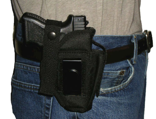 USA Made Custom Belt Holster Glock 19 9mm 40 With Extra Mag pouch
