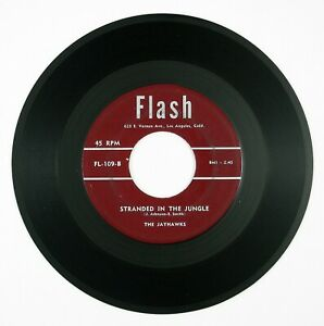 JAYHAWKS-Stranded-In-The-Jungle-My-Only-Darling-7IN-1956-DOO-WOP-VG
