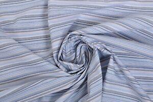 Per Metre Lilac Stripe Ex Paul Smith Cotton Shirting Seersucker Texture Pink