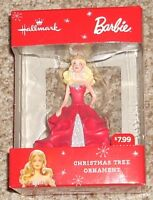 2015 Hallmark Christmas Ornament Barbie Red Dress Blonde Hair 3 1/2 Inches