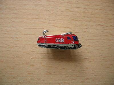 Pin Anstecker E-Lok ÖBB Logo neu rot Zug Lok Eisenbahn 6316