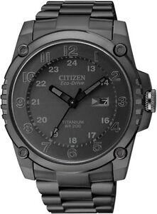 Citizen-BJ8075-58E-Mens-Watch-Eco-Drive-Black-Titanium-Case-and-Bracelet