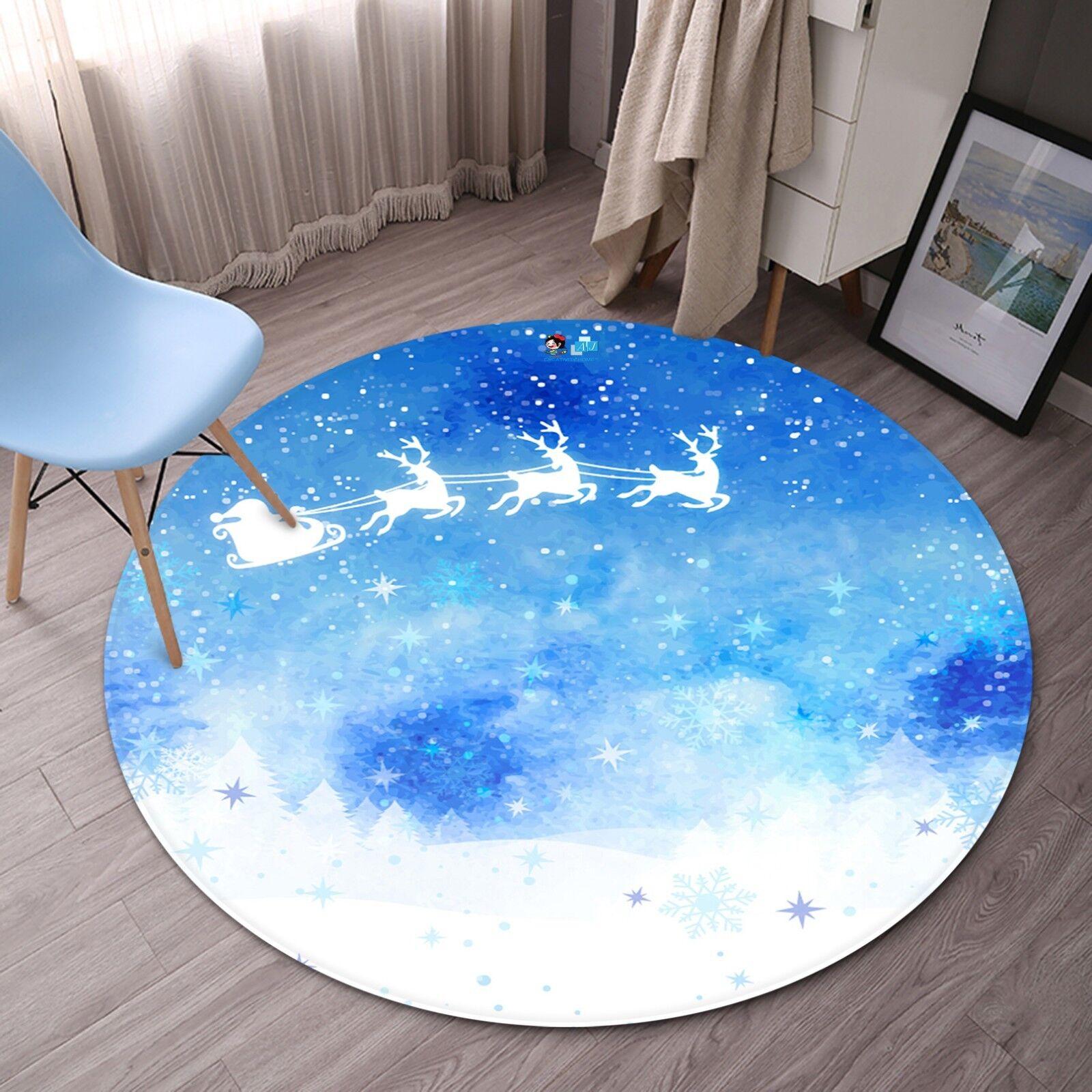 3D Weihnachten Xmas 651 651 651 Rutschfest Teppich Matte Raum Runden Elegant Teppich DE 6f549e