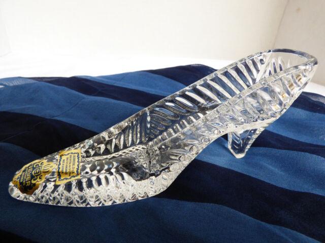Hand made in Slovakia Beyer Neustadt Bavaria Bleikrystall Crystal shoe slipper