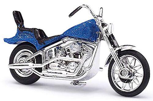 MOTO Americana American Motorcycle US-BIKE 1:87 BLU BLUE METALLIZZATO