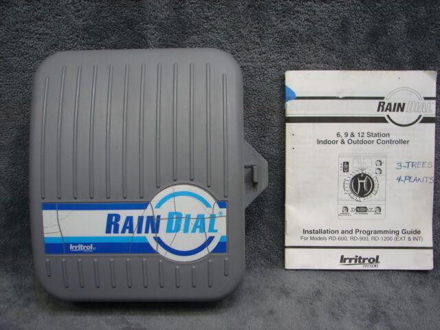 Irritrol Rain Dial RD600 6 Station Zone Sprinkler Irrigation Controller  Timer