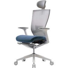 Sidiz T50 Ergonomic Office Desk Chair With Lumbar Support Fabric Blue Used