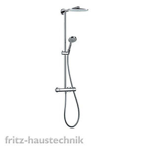 hansgrohe raindance showerpipe s 240 duschsystem aufputz thermostat 27160 ebay. Black Bedroom Furniture Sets. Home Design Ideas