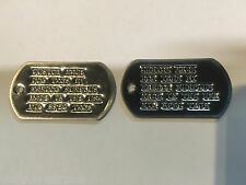 Set of 2 Replacement U.S Military Custom Personalized  / ID Shiny Dog Tags Army