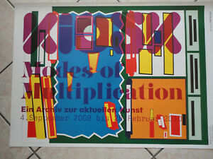 Ausstellungsplakat-KIOSK-034-Mode-of-Multiplication-034-Archiv-aktuellen-Kunst-2009